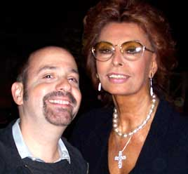 David Krane and Sophia Loren