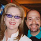 With Meryl Streep at the Oscars. Conducted her in <em>Happy End</em> on Broadway before her first film